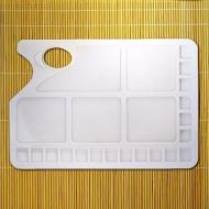 Прямоугольная пластиковая палитра Сонет НЕВСКАЯ ПАЛИТРА для смешивания красок, 23 яч.