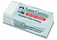 Ластик Faber-Castell Dust-Free, белый, в защитной упаковке