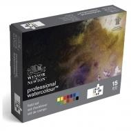 """Акварель Winsor&Newton """"Professional Compact Set"""" 14 цв. с собольей кистью в пластиковой коробке"""