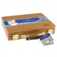 """Акварель в тубах Winsor&Newton """"Professional"""" с аксессуарами в деревянном чемодане"""
