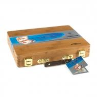"""Акварель Winsor&Newton """"Professional"""" с аксессуарами в деревянном чемодане"""