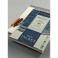 Альбом для пастели Fabriano Ingres 90г/м.кв 21x29,7см белая бумага 100л спираль по короткой стороне