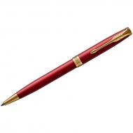 "Ручка шариковая Parker ""Sonnet Intense Red GT"" черная, 1,0мм, поворот., подар. уп."
