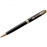 "Ручка шариковая Parker ""Sonnet Black Lacquer GT"" черная, 1,0мм, поворот., подар. уп."