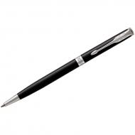 "Ручка шариковая Parker ""Sonnet Black Lacquer CT Slim"" черная, 1,0мм, поворот., подар. уп."