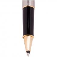 """Ручка-роллер Parker """"Sonnet Stainless Steel GT"""" черная, 0,8мм, подарочная уп."""