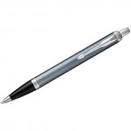 """Ручка шариковая Parker """"IM Light Blue Grey CT"""" синяя, 1,0мм, кнопочн., подар. уп."""