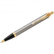 """Ручка шариковая Parker """"IM Brushed Metal GT"""" синяя, 1,0мм, кнопочн., подар. уп."""
