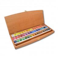 Подарочный набор акварели «Белые ночи» НЕВСКАЯ ПАЛИТРА в шкатулке, 48 цветов и кисть