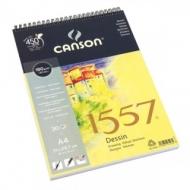 Альбом для графики Canson 1557 Dessin Ja 180г/кв.м 21*29.7см 30листов Малое зерно спираль по короткой стороне