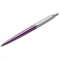 """Ручка шариковая Parker """"Jotter Victoria Violet CT"""" синяя, 1,0мм, кнопочн., подар. уп."""