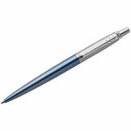 "Ручка шариковая Parker ""Jotter Waterloo Blue CT"" синяя, 1,0мм, кнопочн., подар. уп."