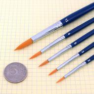 Круглые синтетические кисти TAG разной ширины(№) для аквагрима, рисования и макияжа