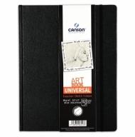 Блокнот для зарисовок Canson Universal 96г/кв.м 21.6*27.9см 112листов твердая обложка застежка-резинка черный