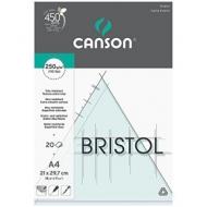 Альбом для графики Canson Bristol 250г/кв.м 21*29.7см 20листов Гладкая склейка по короткой стороне