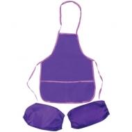 Фартук с нарукавниками ArtSpace, 2 кармана, фиолетовый