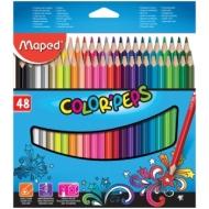 """Карандаши Maped """"Color Peps"""", 48цв., трехгран., заточен., картон, европодвес"""