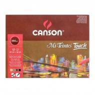 Альбом для пастели Mi-Teintes Touch 350г/м.кв 24*32см 12л 4 цв. склейка по 4 сторонам