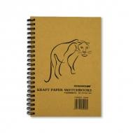 Альбом для эскизов Kraft Paper Sketchbook POTENTATE, крафт-бумага 80 г/кв.м, 19x13 мм, 50 л