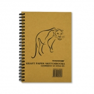Альбом для эскизов Kraft Paper Sketchbook POTENTATE, крафт-бумага 80 г/кв.м, 26x19 см, 50 л