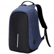 Рюкзак-антивор с USB синий