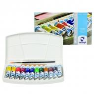 Набор акварельных красок Royal Talens Van Gogh, 12 цветов в тубах 10 мл, 1 кисть и губка