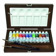 Набор акварельных красок Royal Talens Van Gogh, тубы 12 цветов по 10 мл, 2 кисти, палитра