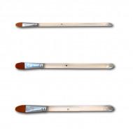 Плоские скругленные кисти TAG разной ширины(№) для аквагрима, рисования, макияжа (синтетика)