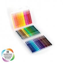 """Набор маркеров с наконечником """"кисть"""" для скетчинга и творчества, пенал, 48 цвета"""