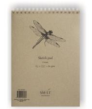 Скетчбук для графики SM-LT Art Authentic Cream 80г/м2 A5 70 листов спираль по короткой стороне