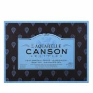 Блок для акварели Canson Heritage 300г/кв.м (хлопок) 26*36см 20л Торшон склейка по 4 сторонам