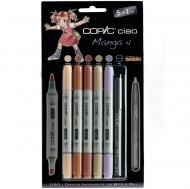 Набор маркеров СОРIС СIАО «Manga 4», 5 цветов и линер Copic Multi liner