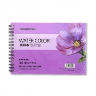 Альбом для акварели Watercolor Pad POTENTATE, 230 г/кв.м, 20 л, формат 13,5x19,5 см