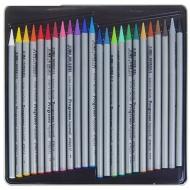 """Карандаши акварельные цельнографитные Koh-I-Noor """"Progresso Aquarell"""", набор 24 цвета, металлический пенал"""
