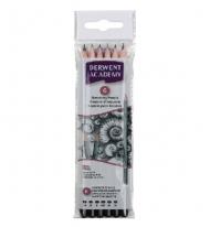 Набор чернографитных карандашей Derwent Academy Sketching, 6шт. 3B-2H, в блистере