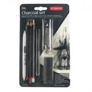 Набор угольных карандашей Derwent Charcoal 10 предметов в блистере