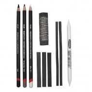 Набор угольных карандашей Charcoal 10 предметов в блистере