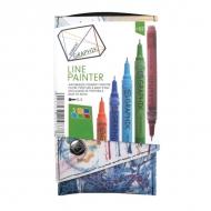 Набор цветных линеров Graphik Line painter Derwent, палитра №2, 5 штук