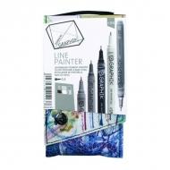 Набор разноцветных линеров Graphik Line painter Derwent, палитра №4, 5 штук