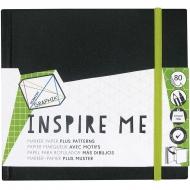 Альбом для маркеров Inspire Me Derwent, 80л, 120 г/м2, 140х140 мм, разная линовка