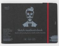 Альбом SM-LT Art Authentic Black 165г/м2 24.5х18.5см 18 листов с закладкой-застежкой книжный переплет (сшитый)