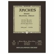 Блок для графики Arches Extra Blanс 180г/кв.м 26*36см 16листов Мелкое зерно склейка по 1 стороне