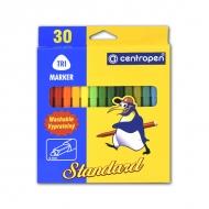 Набор детских фломастеров для рисования Standart Trio Centropen, 30 цветов