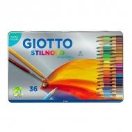 Набор цветных акварельных карандашей Giotto Scat metallo FILA, 36 цветов