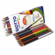 Набор двусторонних цветных карандашей Giotto Stilnovo Bicolor FILA, 12 штук = 24 цвета