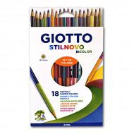 Набор двусторонних цветных карандашей Giotto Stilnovo Bicolor FILA, 18 штук = 36 цветов