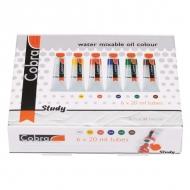 Набор водорастворимых масляных красок Cobra Study Royal Talens, 6 цветов