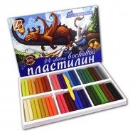 """Набор воскового пластилина """"Фантазия"""" ЛУЧ, 24 цвета, стек в наборе"""