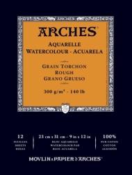 Альбом для акварели Arches 300г/кв.м (хлопок) 23*31см 12л Торшон, склейка