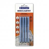 Набор ручек-линеров для рисования и черчения Centropen, 0,1 мм, 0,3 мм, 0,5 мм, 0,7 мм, цвет черный